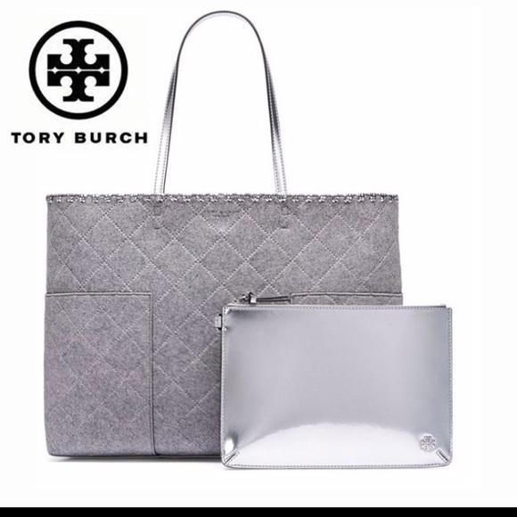0ad6c3abc97 NWT Tory Burch block t-felt tote w detachable mini. Listing Price   150